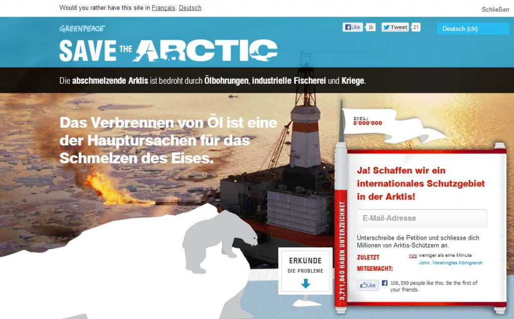 Call for Action Beispiel Greenpeace. Prof. Martina Dalla Vecchia, FHNW