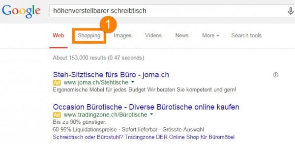 Google: Neu ist Shopping auf Platz zwei