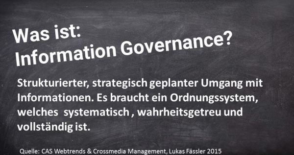 Was ist Information Governance?